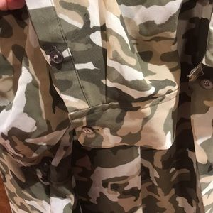 b50534ba1995c Two by Vince Camuto Tops - NWT two by Vince Camuto sheer camo dress shirt